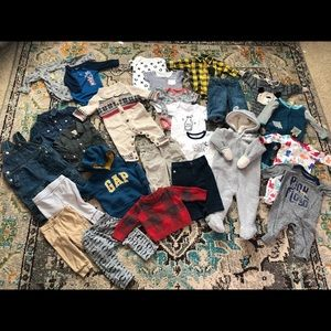 Lot of Baby Boy Clothes Size 3-6 Mos. (25 pieces)